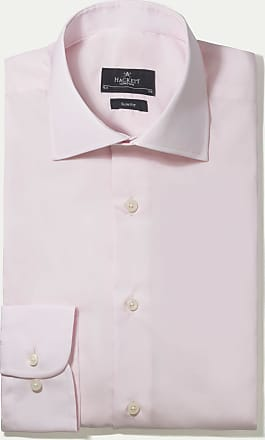 Hackett Mens Poplin Slim Single Cuff Cotton Shirt   Size 157   White