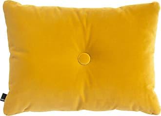 HAY Dot Soft Kissen 60x45cm - gelb/Samtstoff Lola/Polyesterfüllung/1 Knopf