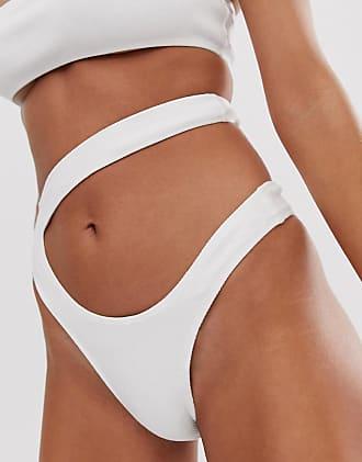 2f857091c3d8 Motel Slip bikini sgambato a fascette bianco - Bianco