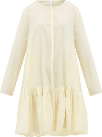 Merlette Martel Tiered Cotton-lawn Shirt Dress - Womens - Light Yellow