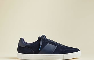 Ted Baker Branded Suede Trainers in Navy COBBOL, Mens Accessories