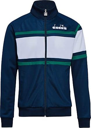 Diadora Mens 80S Track Jacket, Blue, Medium