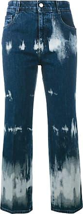 Stella McCartney tie-dye cropped jeans - Blue