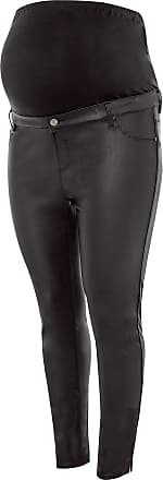 Yours Clothing Clothing Womens Bump IT UP Maternity Coated Jeggings Size 22 Black