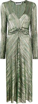 Rotate Vestido midi com pregas - Verde