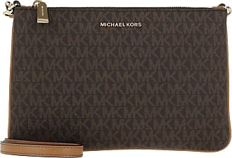 Michael Kors Cross Body Bags - Large Double Pouchette Crossbody Bag Brown - brown - Cross Body Bags for ladies