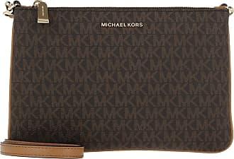Michael Kors Large Double Pouchette Crossbody Bag Brown