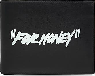 Off-white Printed Leather Wallet Mens Black