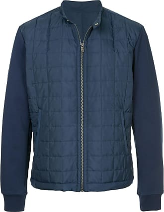 Durban front zip padded jacket - Blue