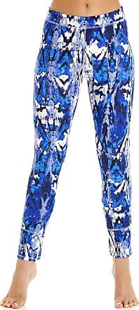 Camille Womens Gym Sport Full Length and Capri Leggings 14 Blue
