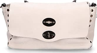 Zanellato Handbag JONES leather embossment logo white