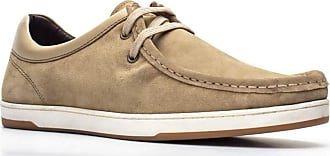 Base London Mens Dougie Suede Lace Up Moccasin Shoes