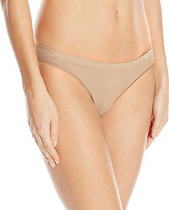 OnGossamer Womens Clean Lines Seamless Thong Panty, Champagne X-Large