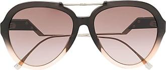 Fendi Óculos de sol aviador - Cinza