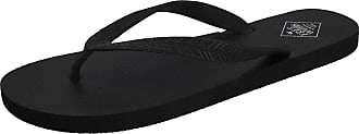 Freewaters Mens Tommy Toe Post EVA Max Cushion Lightweight Sporty Active Beach Water Friendly Flip Flops Mule Sandals Size 6-11 (UK 6, Black/Black)