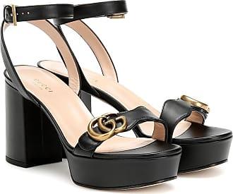 Gucci Marmont leather platform sandals