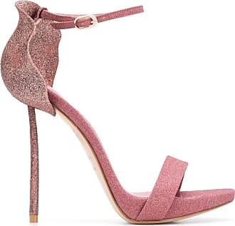 Le Silla Sandália com brilho e salto agulha 110mm - Rosa