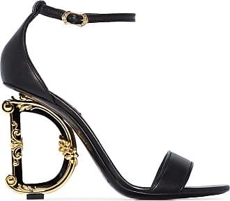 Dolce & Gabbana Sandália com salto Baroque D&G - Preto