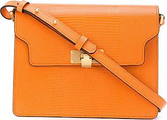 Marge Sherwood Vintage Brick lizard-effect shoulder bag - Laranja
