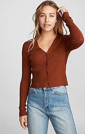 Twik Finely-ribbed cropped cardigan