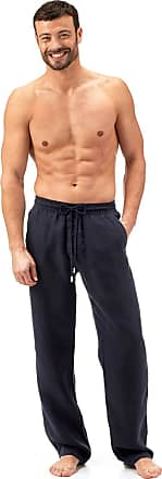 Vilebrequin Mens Solid Linen Pants-XL, Navy, X-Large