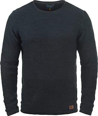 Blend Blend Bogota mens knitted sweater with a crew neck - Blue - 46