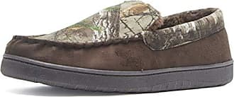 b9dc25e6504550 Realtree Real Tree Mens Memory Foam Camo Moccasin House Slipper  Indoor/Outdoor Brown Bottom,