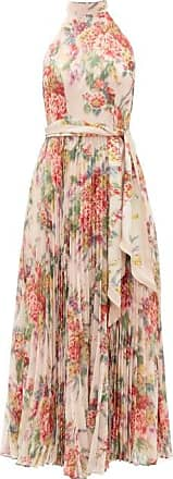 Zimmermann Wavelength Halterneck Floral-print Crepe Dress - Womens - Pink Print