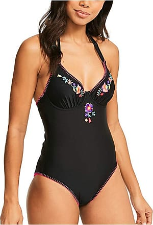 Figleaves Womens Pacha Underwired Swimsuit Size 32E in Black