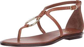Lauren Ralph Lauren Lauren by Ralph Lauren Womens Nanine Sandal, Deep Saddle Tan, 6 UK