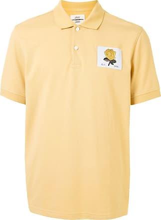 Kent & Curwen rose motif polo shirt - Yellow