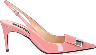 Sergio Rossi Slingback Pumps SR1 patent leather Logo pink