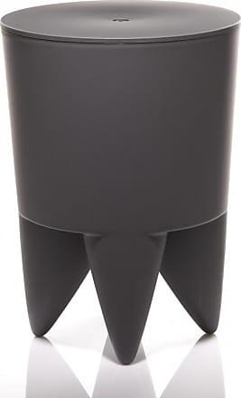 XO Design Bubu Ier Hocker - kohlenschwarz/durchgefärbt/H 43cm/Ø 32,5cm