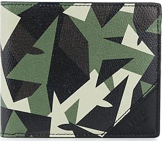 Fendi Carteira com estampa gráfica - Verde