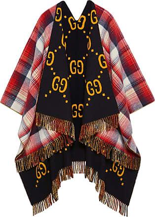 9b972bd365c42 Gucci Reversible GG wool poncho - Red