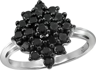 JewelersClub JewelersClub 1 Carat T.W. Black Diamond Ring in Sterling Silver
