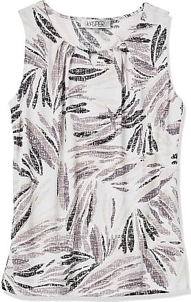 Kasper Womens Double U-Neck Bouquet Printed Cami Blouse