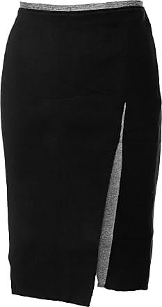 Calvin Klein Jeans Saia Calvin Klein Jeans Curta Tricot Assimétrica Preta