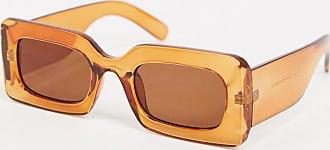 Pieces Sonnenbrille mit eckigem Rahmen in Braun