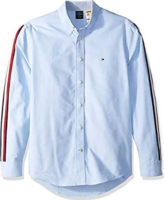 1da2f04a5 Tommy Hilfiger Mens Adaptive Magnetic Long Sleeve Button Down Shirt Custom  Fit, Sky Blue,