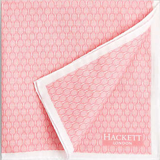 Hackett Rackets Cotton Pocket Square | Pink