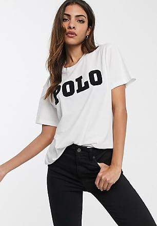 Polo Ralph Lauren T-shirt con logo di perline-Bianco