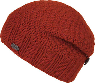 KuSan 100% Wool Button Down Beanie Hat (OneSize) PK1329 (Orange)