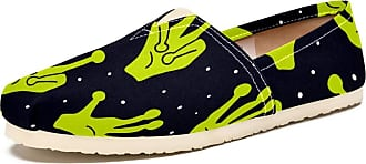 Tizorax Aliens Hands Mens Slip on Loafers Shoes Casual Canvas Flat Boat Shoe