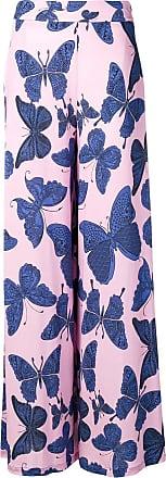 Ultra Chic butterfly print palazzo pants - Pink