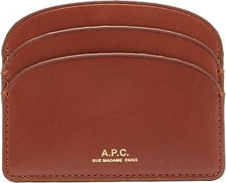 A.P.C. Half Moon Leather Cardholder - Womens - Tan