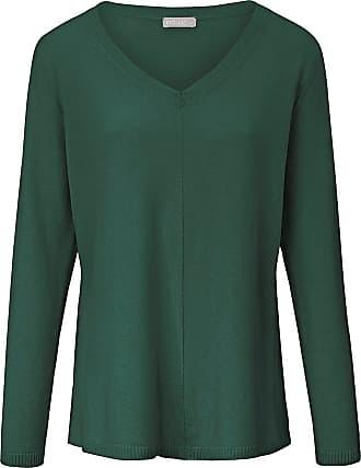 include V-Pullover aus 100% Premium- Kaschmir include grün