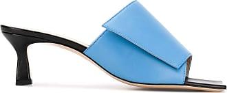 Wandler Mule Isa com bico quadrado - Azul