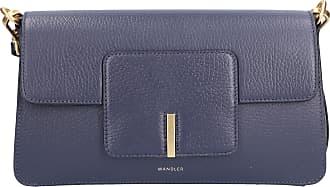 Wandler Handtasche GEORGIA Kalbsleder Logo dunkelblau