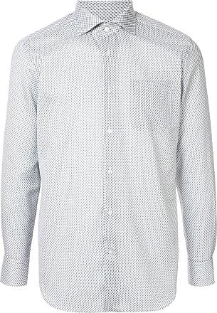 Durban Camisa com padronagem geométrica - Cinza